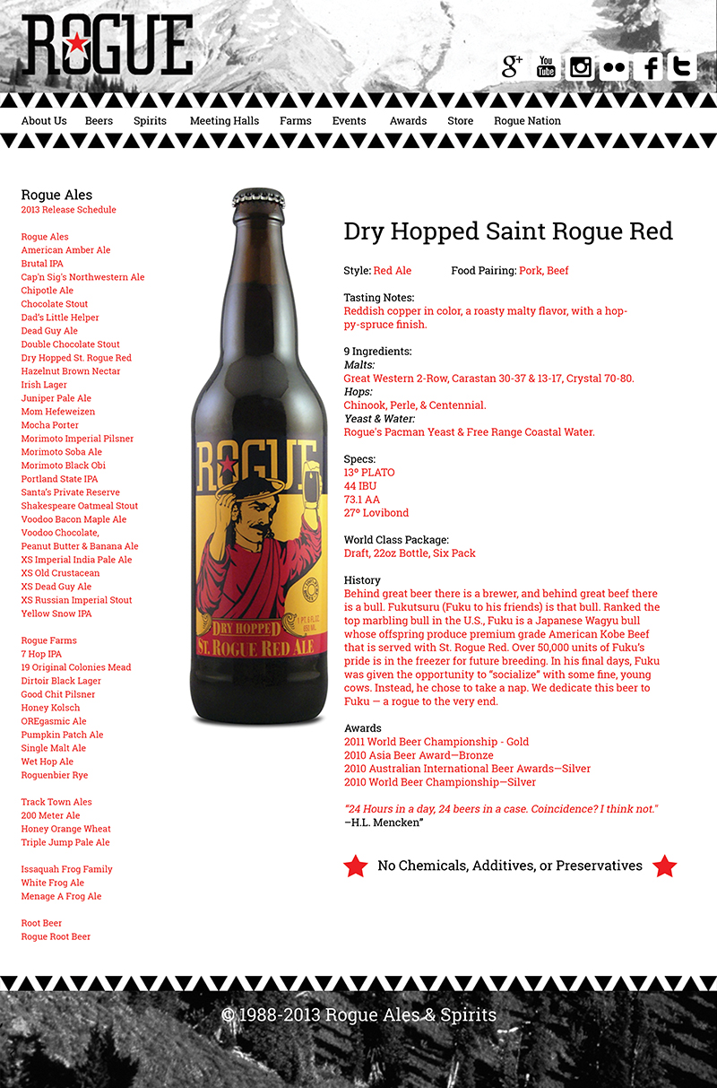 Rogue Beer Page
